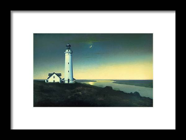 Light House Framed Print featuring the painting Daily Illuminations by Douglas MooreZart