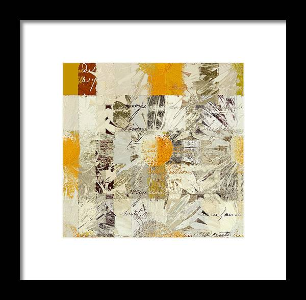 .abstract Floral. Framed Print featuring the digital art Daising - J055112109 - 01 by Variance Collections
