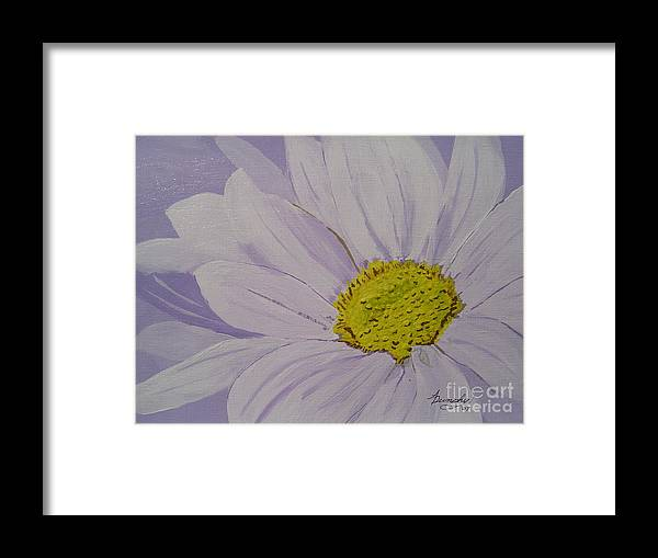 Daisy Framed Print featuring the painting Daisy by Anthony Dunphy