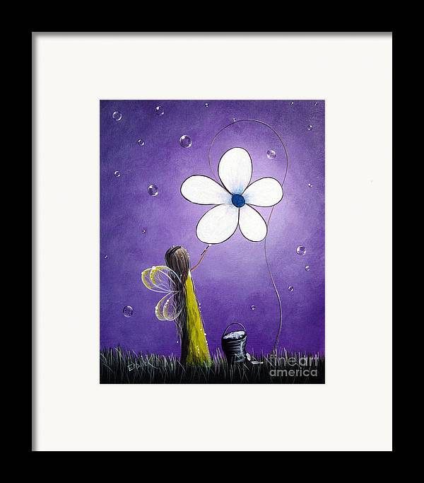 Fairy Framed Print featuring the painting Daisy Fairy By Shawna Erback by Shawna Erback