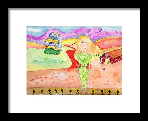 Jim Taylor Framed Print featuring the painting Daisy by Jim Taylor