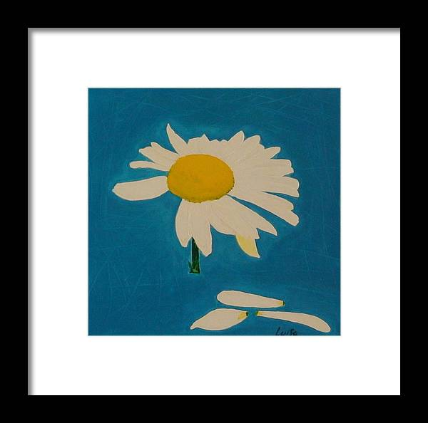 Flower Framed Print featuring the painting Daisy by Maia Oliver