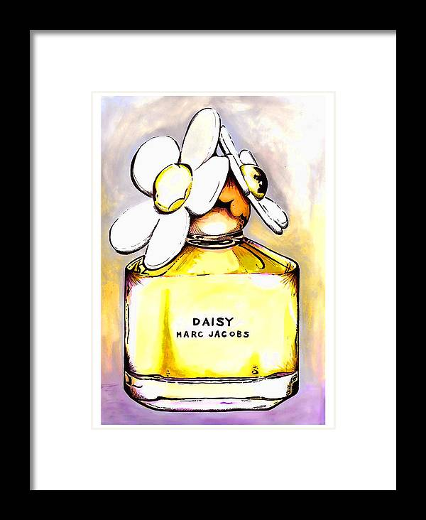 Fashion Framed Print featuring the painting Daisy Marc Jacobs by Andy Thomas