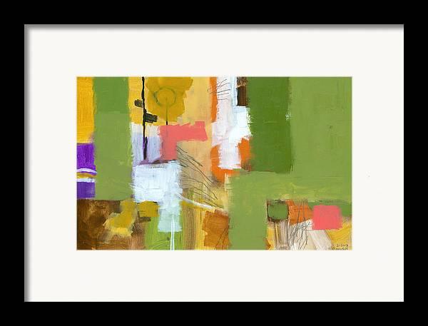 Abstract Framed Print featuring the painting Dakota Street 5 by Douglas Simonson
