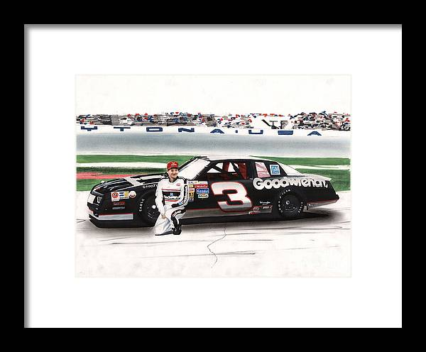 Dale Earnhardt Goodwrench Monte Carlo Framed Print