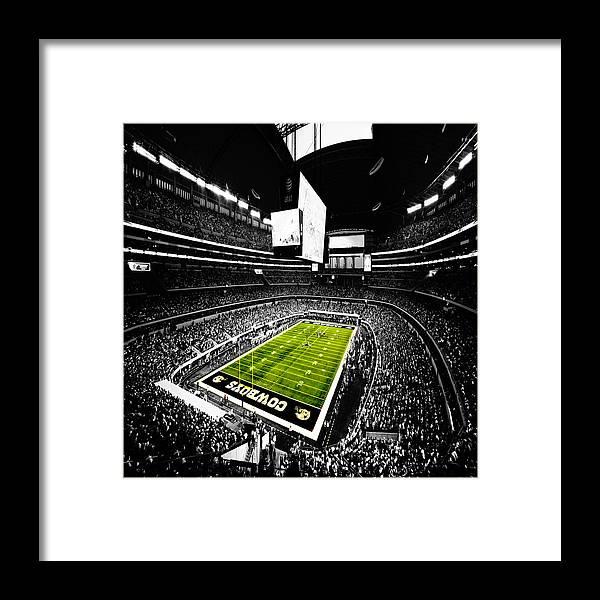 c019afe135803a Dallas Cowboys Framed Print featuring the digital art Dallas Cowboys  Football Stadium by Brian Reaves