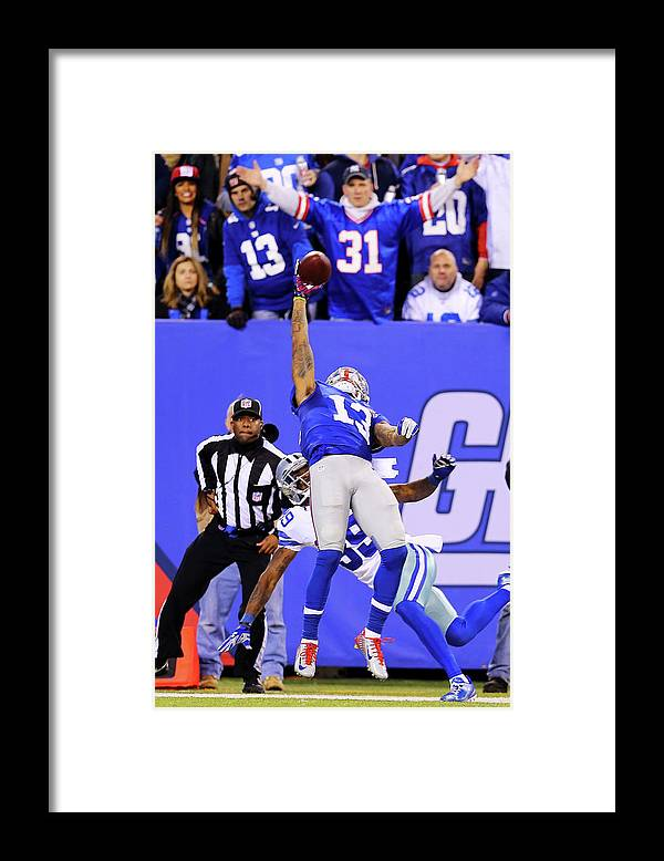 Odell Beckham Framed Print featuring the photograph Dallas Cowboys V New York Giants by Elsa