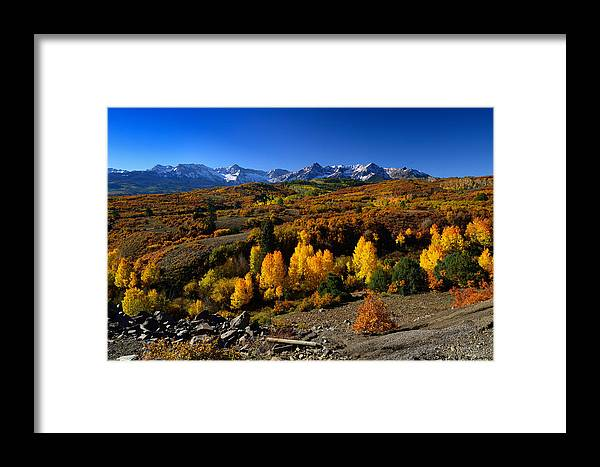 Colorful Landscape Framed Print featuring the photograph Dallas Divide Fall Colors by Rendell B