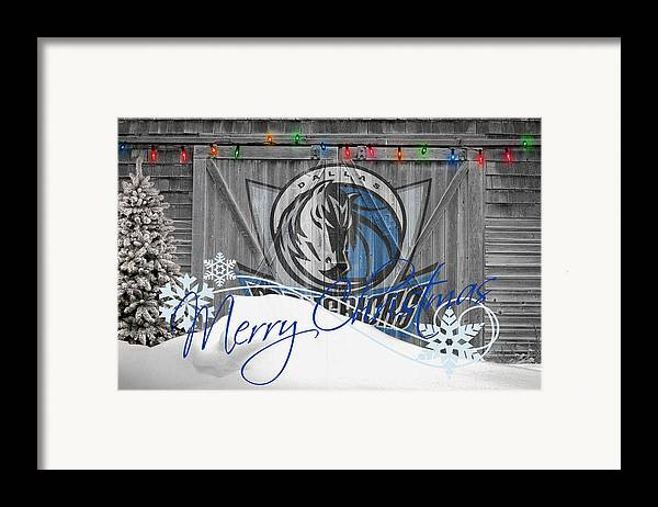 Mavericks Framed Print featuring the photograph Dallas Mavericks by Joe Hamilton