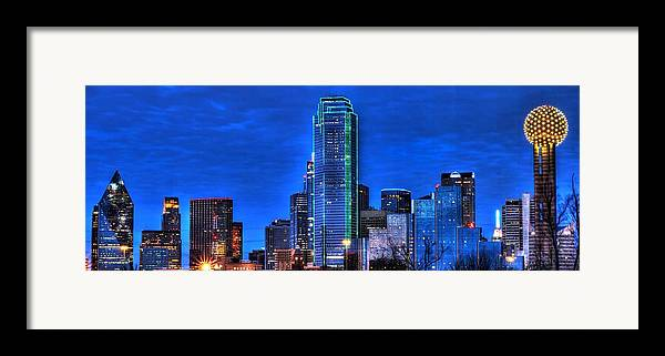 Dallas Framed Print featuring the photograph Dallas Skyline Hd by Jonathan Davison