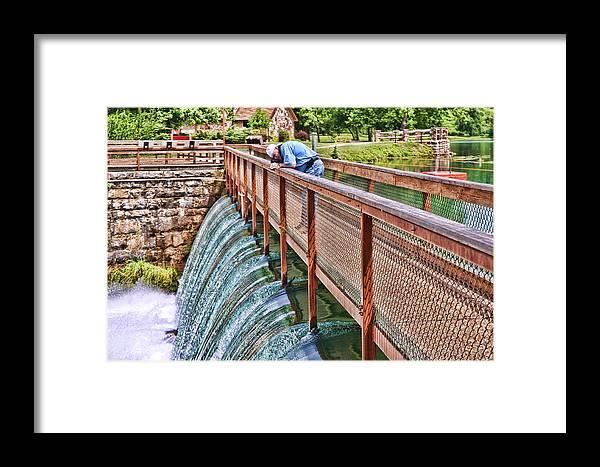 Water Framed Print featuring the digital art Dam by Audreen Gieger