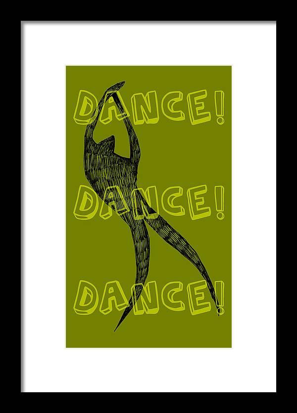 Text Framed Print featuring the digital art Dance Dance Dance by Michelle Calkins