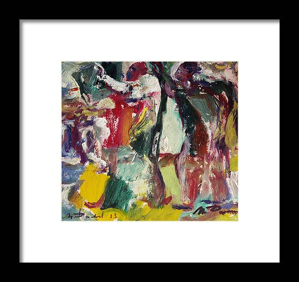Dance Framed Print featuring the painting Dance by Ivan Filichev