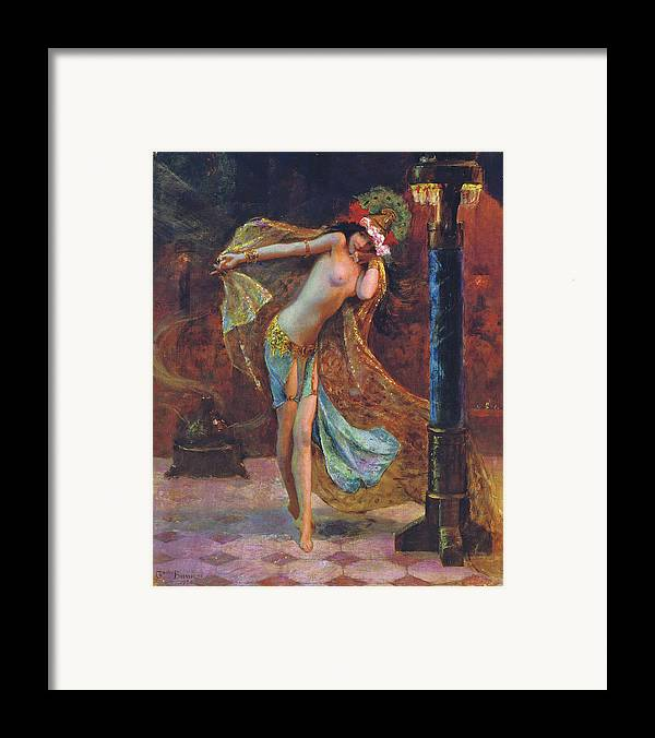 Gaston Bussiere Framed Print featuring the digital art Dance Of The Veils by Gaston Bussiere