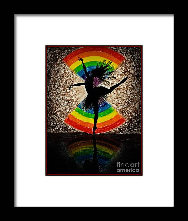 Dance Framed Print featuring the drawing Dance by Pooja Rohra