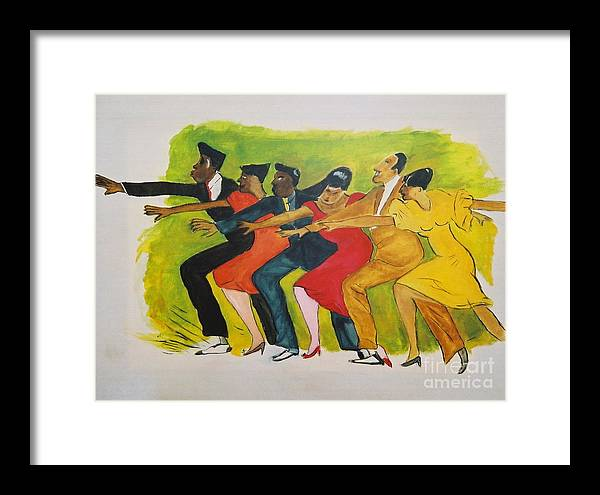Dances From The 30's Framed Print featuring the mixed media Dance Series1 0f 8-Shim Sham Shimmy by JackieO Kelley