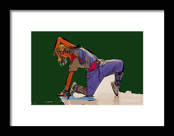 Dance Framed Print featuring the digital art Dancer 26 by College Town