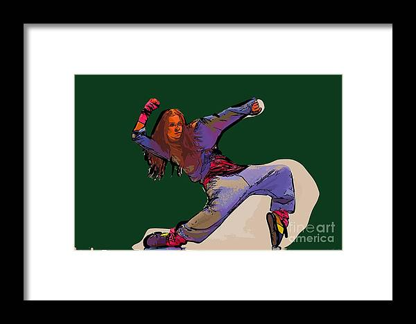 Dance Framed Print featuring the digital art Dancer 29 by College Town