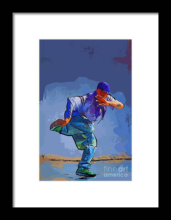 Dance Framed Print featuring the digital art Dancer 32 by College Town