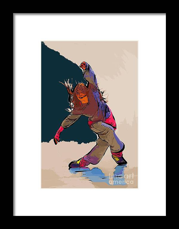 Dance Framed Print featuring the digital art Dancer 40 by College Town