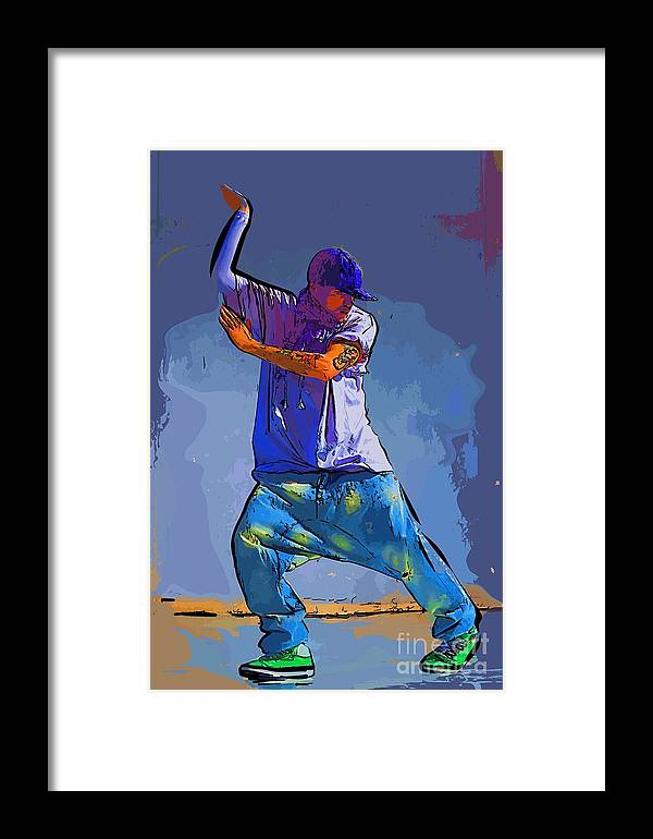 Dance Framed Print featuring the digital art Dancer 47 by College Town