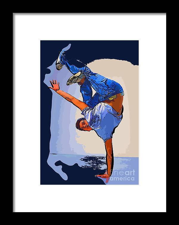 Dance Framed Print featuring the digital art Dancer 60 by College Town