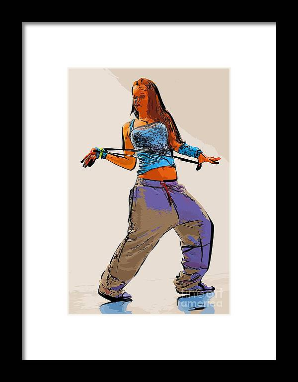 Dance Framed Print featuring the digital art Dancer 66 by College Town