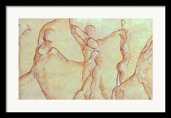 Watercolor Framed Print featuring the painting Dancers - 10 by Caron Sloan Zuger