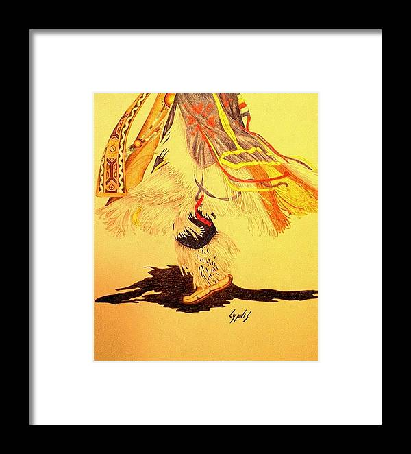 Dancer Framed Print featuring the drawing Dancer's Feet 2 by Lew Davis