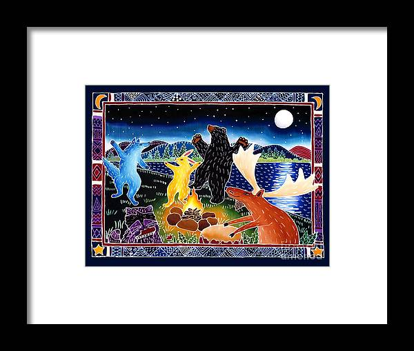 Playfyl Framed Print featuring the painting Dancing in the Moonlight by Harriet Peck Taylor