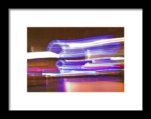Abstract Framed Print featuring the photograph Dancing Lights by Alex Art and Photo