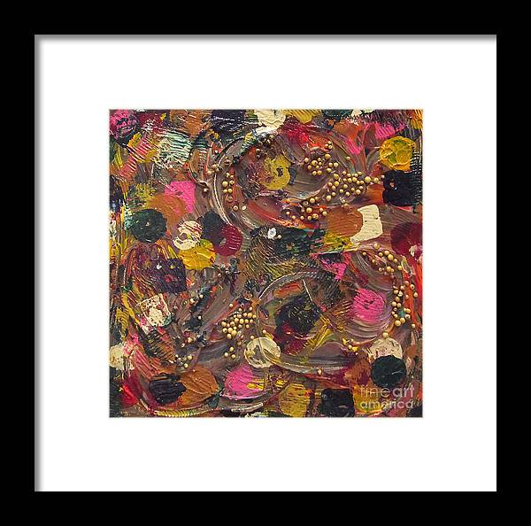 Colorful Framed Print featuring the painting Dandelions by Jeanne Ward
