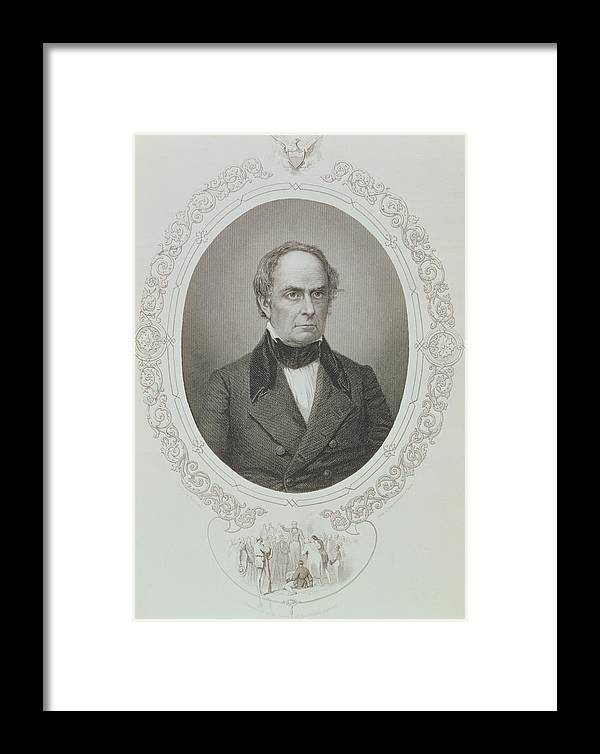 American Politician Framed Print featuring the photograph Daniel Webster, From The History Of The United States, Vol. II, By Charles Mackay, Engraved By T by Mathew Brady