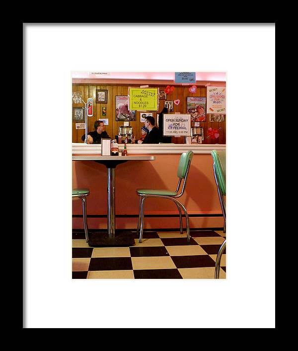 Diner Framed Print featuring the photograph Dan's Diner by Pineapple XVI