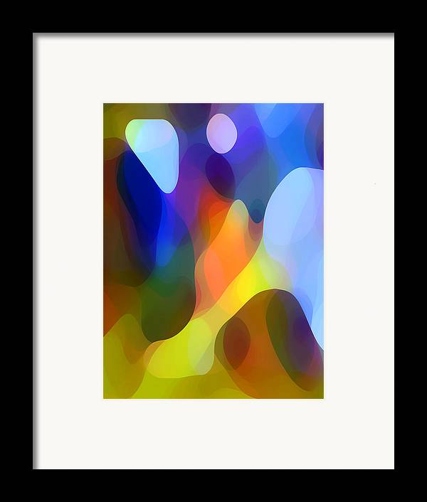 Abstract Art Framed Print featuring the painting Dappled Light by Amy Vangsgard