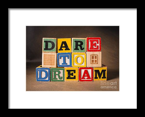 Dare To Dream Framed Print featuring the photograph Dare To Dream by Art Whitton