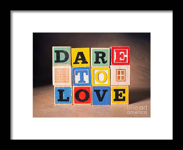 Dare To Love Framed Print featuring the photograph Dare To Love by Art Whitton