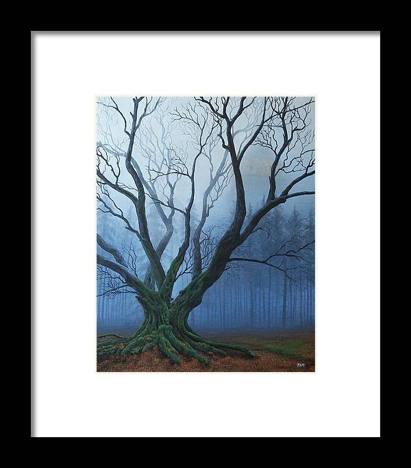 Landscape Framed Print featuring the painting Dark Age by James Moore