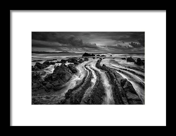 Landscape Framed Print featuring the photograph Dark Barrika by Antonio Carrillo Lopez