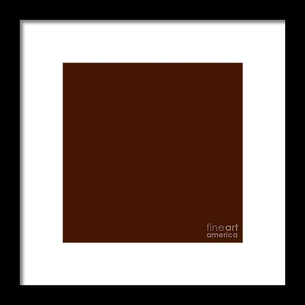 Andee Design Abstract Framed Print featuring the digital art Dark Chocolate by Andee Design