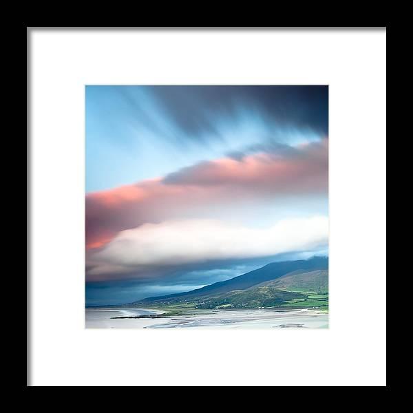 Dingle Framed Print featuring the photograph dark clouds over Irish coast Dingle peninsula by Dirk Ercken