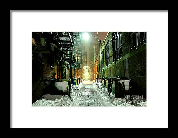 Boston Framed Print featuring the photograph Dark Gritty Alleyway by Denis Tangney Jr
