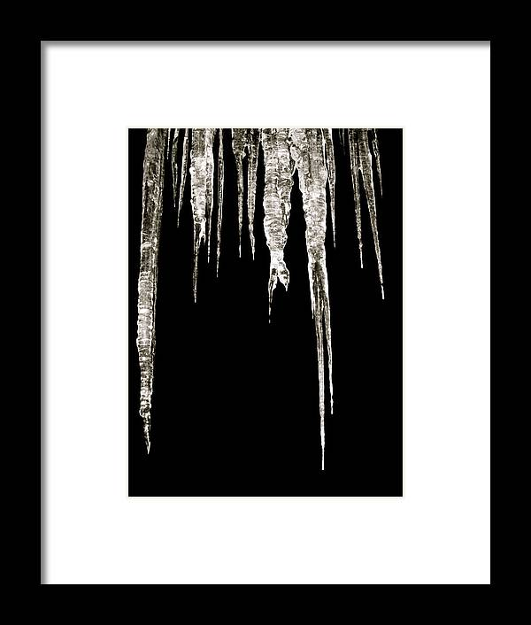 Icicle Framed Print featuring the photograph Dark Ice by Azthet Photography