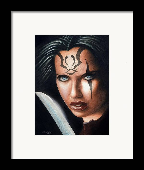 Fantasy Art Framed Print featuring the painting Dark Legends by Anima Invicta