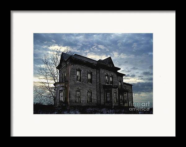 Old House Framed Print featuring the digital art Dark Ruttle County by Tom Straub