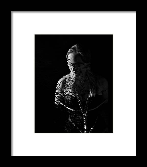 Tattoo Framed Print featuring the photograph Dark Ties And Tattoos by Crista Aldridge