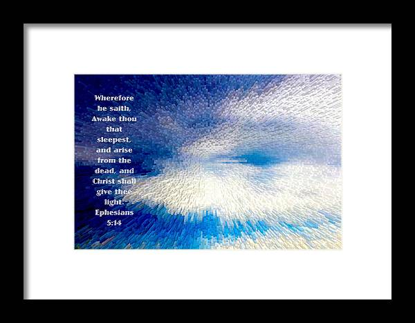 #scripture Art Framed Print featuring the photograph Dark To Light by Debbie Nobile
