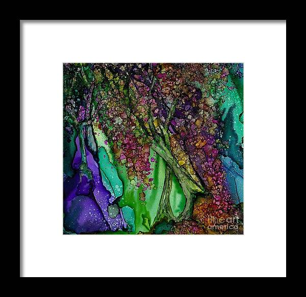 Alcohol Framed Print featuring the painting Dark Tree by Constance Aring