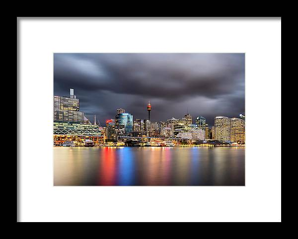 Outdoors Framed Print featuring the photograph Darling Harbour, Sydney - Australia by Atomiczen