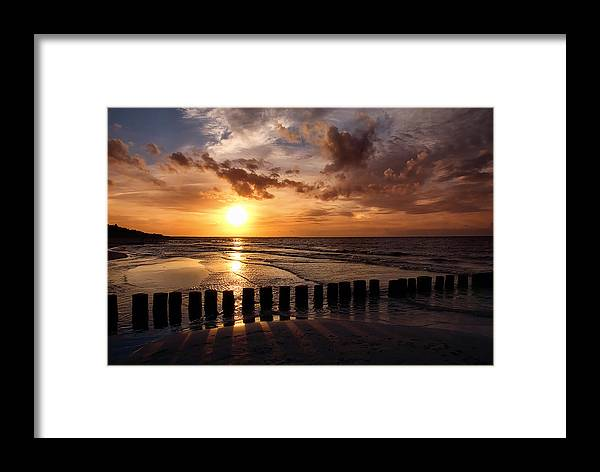 Ostsee Framed Print featuring the pyrography Darss by Steffen Gierok
